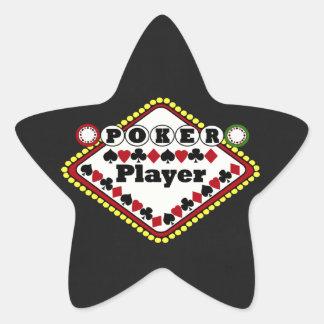 Poker-Spieler Stern-Aufkleber