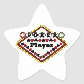 Poker-Spieler Stern Aufkleber