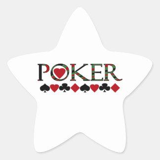 Poker Stern-Aufkleber