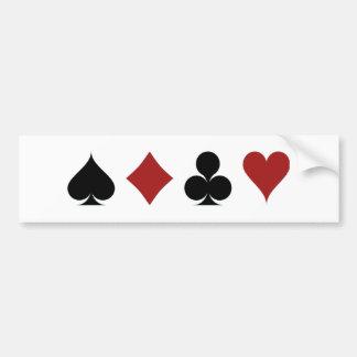 Poker-Symbole Autoaufkleber