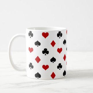 Poker-Thema | der Spielkarte-Anzugs-| Kaffeetasse