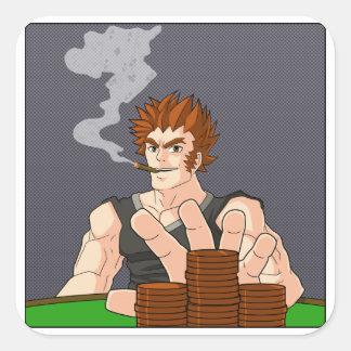 Poker-Typ aller herein Sticker