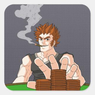 Poker-Typ aller herein Quadrat-Aufkleber