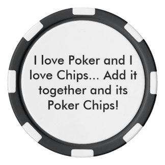 Poker-und Chip-Poker-Chip (Schwarzes) Poker Chips