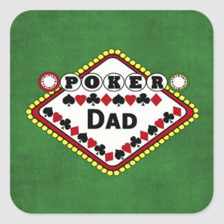 Poker-Vati Quadrataufkleber