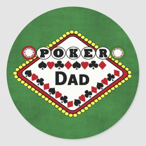 Poker-Vati Runde Sticker
