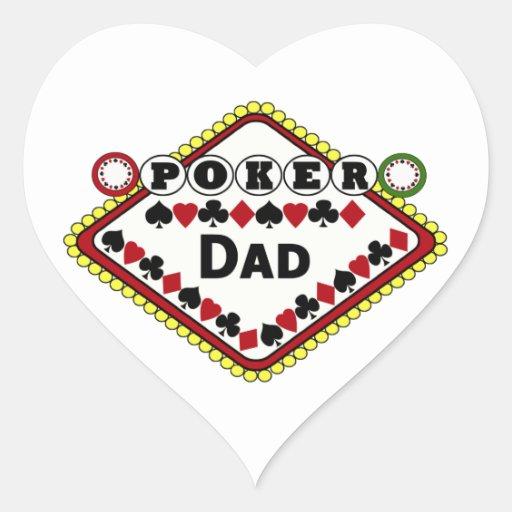 Poker-Vati Herz Aufkleber