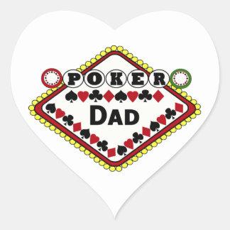 Poker-Vati Herz-Aufkleber