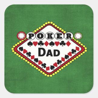 Poker-Vati Quadratischer Aufkleber