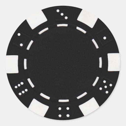 pokerchip Aufkleberschwarzes Runder Aufkleber