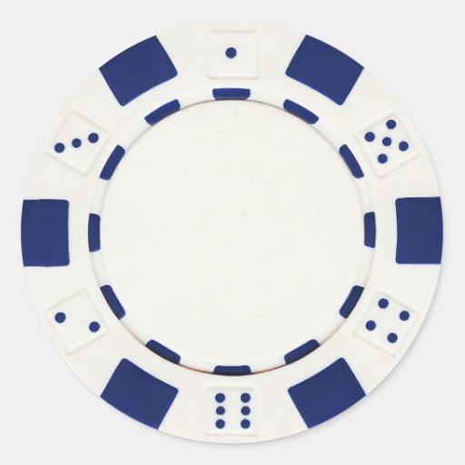 pokerchip Aufkleberweiß Runde Aufkleber