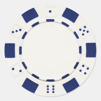pokerchip Aufkleberweiß Runder Aufkleber