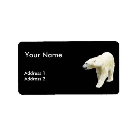 Polar betreffen Sie einen schwarzen Hintergrund Adress Aufkleber
