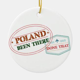 Polen dort getan dem rundes keramik ornament