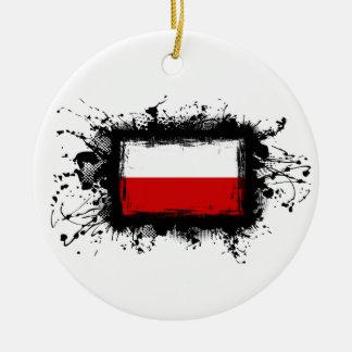 Polen-Flagge Keramik Ornament