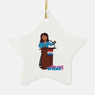 Politiker-Mädchen Keramik Stern-Ornament