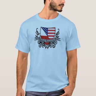 Politur-Amerikanische Schild-Flagge T-Shirt