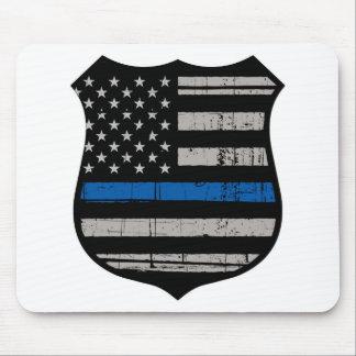 Polizei-Abzeichen-blaue Linie Mousepad
