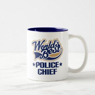 Polizeichef Geschenk- Zweifarbige Tasse