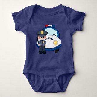 Polizist- und Autobabybodysuit Babybody