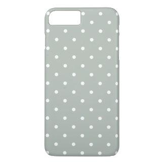 Polka-Punkt iPhone 7 50er des silbernen Graus iPhone 7 Plus Hülle