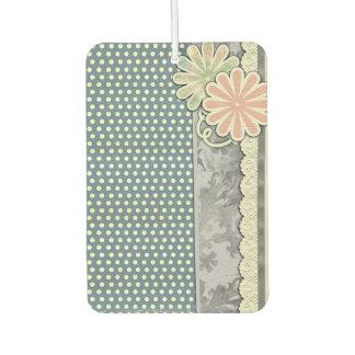Polka-Punkte, Blumen und Spitze Lufterfrischer