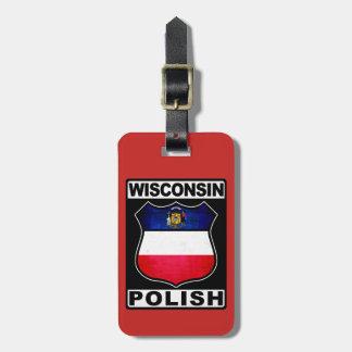 Polnische amerikanische Gepäckanhänger-Schablone Gepäckanhänger