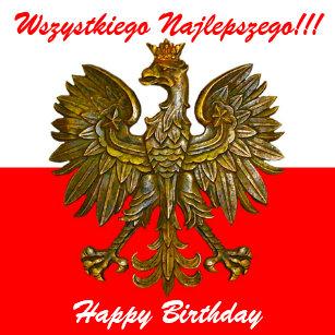 Polnische Geburtstag Geschenke Zazzleat