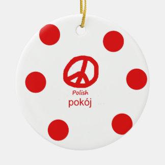 Polnische Sprache und Friedenssymbol-Entwurf Keramik Ornament