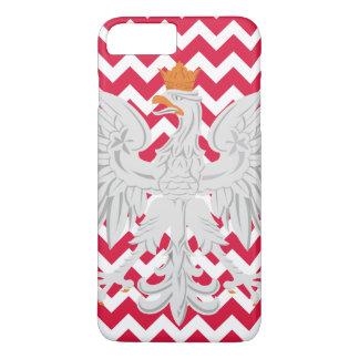 Polnischer Adler-rotes und weißes Zickzack Muster iPhone 8 Plus/7 Plus Hülle