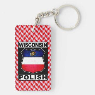 Polnischer amerikanischer Schlüsselring Wisconsins