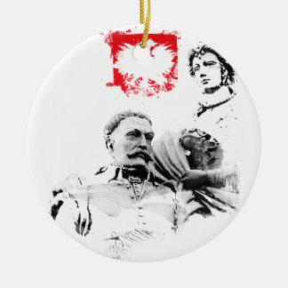 Polnischer König Jan. III Sobieski u. Marysienka Keramik Ornament