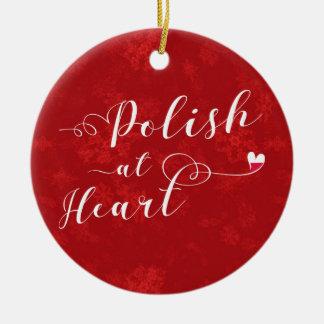 Polnisches am Herzen, Weihnachtsbaum-Verzierung Keramik Ornament