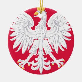 Polnisches Wappen Polens Rundes Keramik Ornament