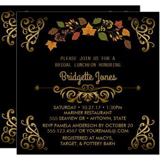 Polterabend des Fall-Brautmittagessen-eleganter Karte