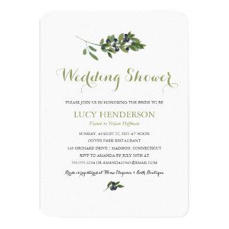 Polterabend des Watercolor-olivgrüner Obstgarten-| 11,4 X 15,9 Cm Einladungskarte
