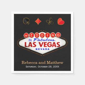 Polterabend-Las- Vegashochzeits-Party Papierservietten