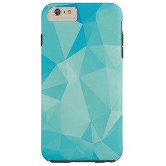 Polygon blaue iPhone 6 Plusfall Tough iPhone 6 Plus Hülle