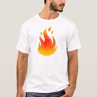 Polygon Feuer T-Shirt