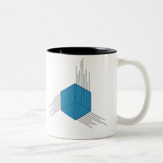 Polygon-Hexagon Zweifarbige Tasse