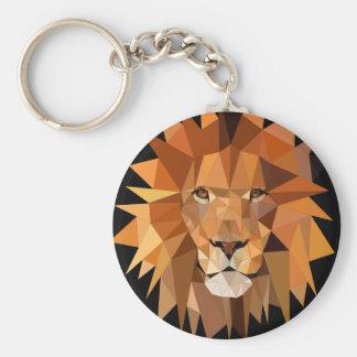 Polygon-Löwe-Gewohnheit Standard Runder Schlüsselanhänger