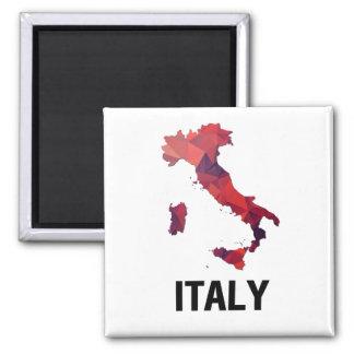 Polygon-Mosaik-Karte von Italien Quadratischer Magnet
