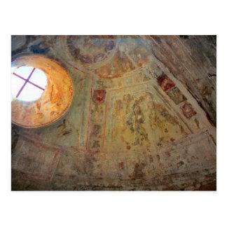 Pompeji, gewölbtes Dach mit Wandgemälden Postkarte