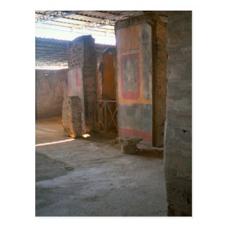 Pompeji, römische Wandgemälde Postkarte