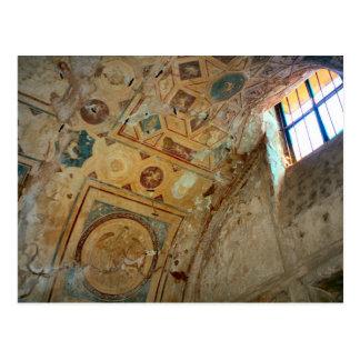 Pompeji, Wandgemälde auf der Decke Postkarte