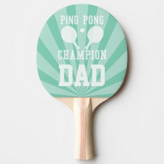Pong das Klingeln des Vatis grünes Meister-Paddel Tischtennis Schläger