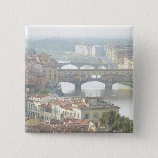 Ponte Vecchio alte Brücke Florenz Italien Quadratischer Button 5,1 Cm