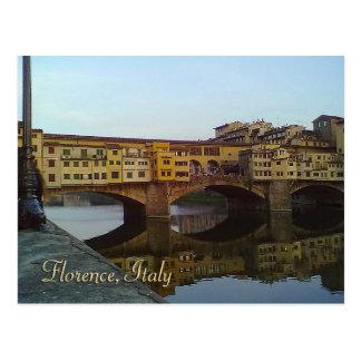 Ponte Vecchio altes Geschenk Brücken-Florenz Postkarten
