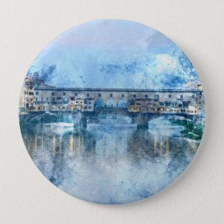 Ponte Vecchio auf dem Arno in Florenz, Italien Runder Button 10,2 Cm