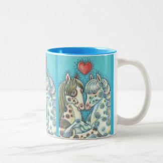 Pony-Leidenschaft PFERDETasse 2 Tonlite-Blau Zweifarbige Tasse